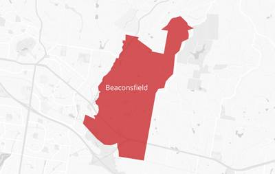 Map of the Beaconsfield area