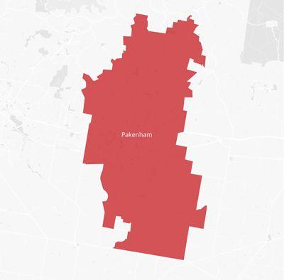 Map of the Pakenham area